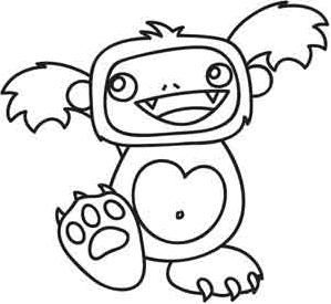 Yeti_image | Embroidery designs, Coloring pages, Color ...