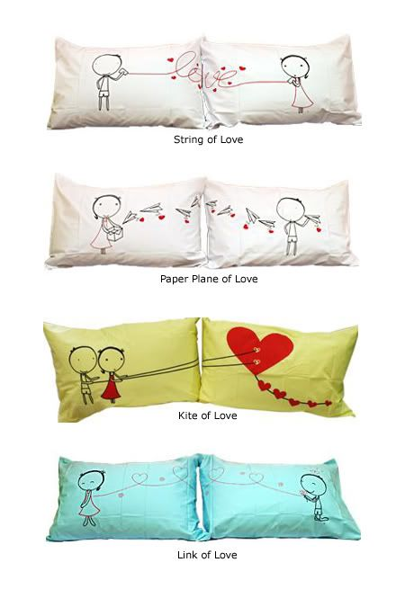 couple pillow cases..... no more getting the terrible pillow, I will know which one is mine!