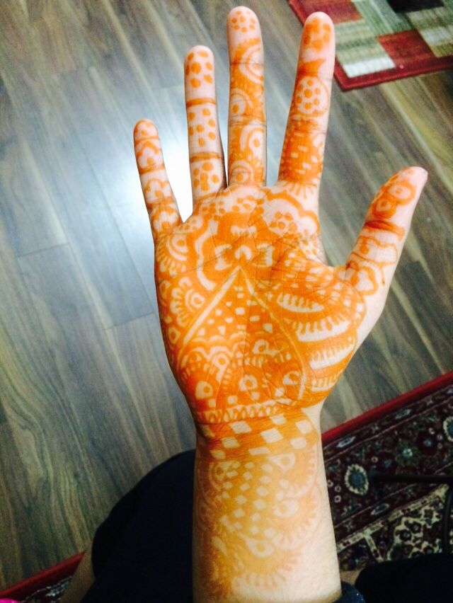 My mehendi once it's done!!!