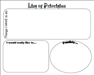 Free Graphic organizer for priorities