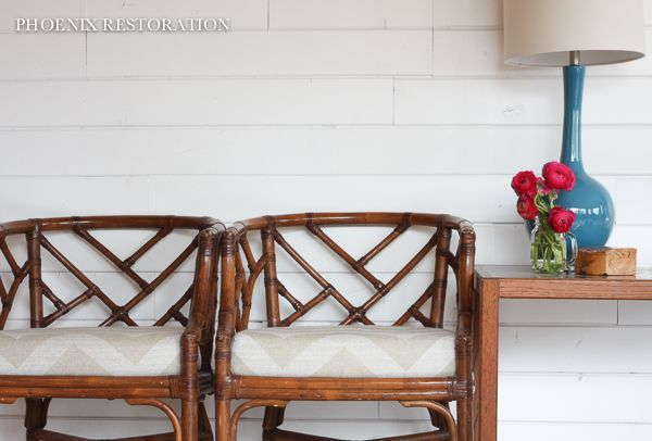 Pair of chippendale rattan chairs {by: Phoenix Restoration}