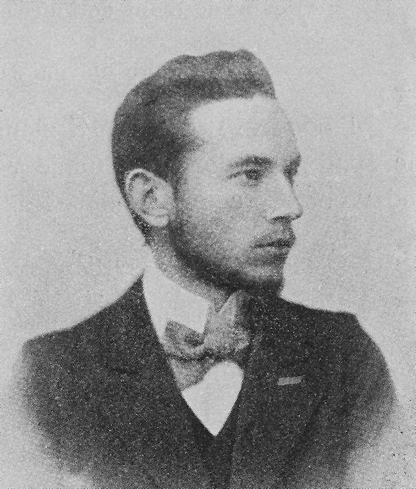 """Leopold Staff, fotografia reprodukowana w książce Wilhelma Feldmana """"Współczesna literatura polska 1880-1904"""", fot. sprzed 1905 roku."""