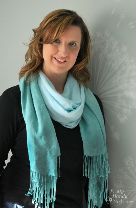 #DIY ombre dyed scarf