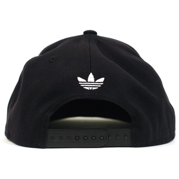 Adidas Thrasher Snapback (Black/White) Hat (33 CAD) ❤ liked on Polyvore featuring accessories, hats, caps, snapback hats, wide brim hat, flat cap hat, 6 panel hat and adidas snapback