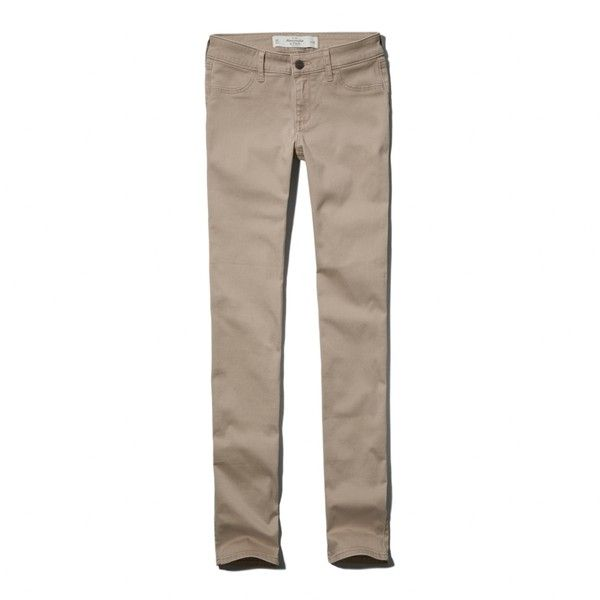Abercrombie & Fitch Sloan Skinny Jeans (€60) ❤ liked on Polyvore featuring jeans, pants, bottoms, khaki, skinny leg jeans, abercrombie & fitch, brown jeans, khaki skinny jeans and skinny fit jeans