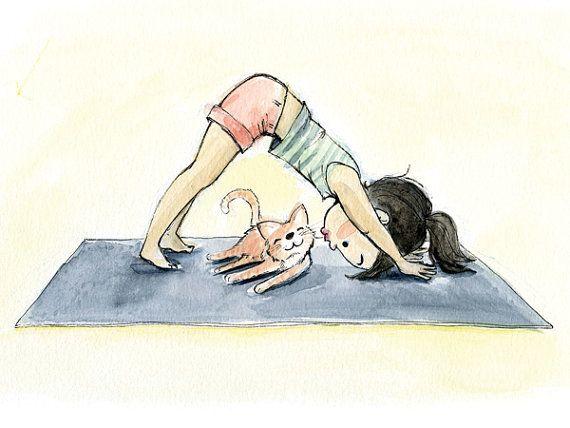 Yoga Loving Collection 8x10 Art Prints por GenevieveSantos en Etsy