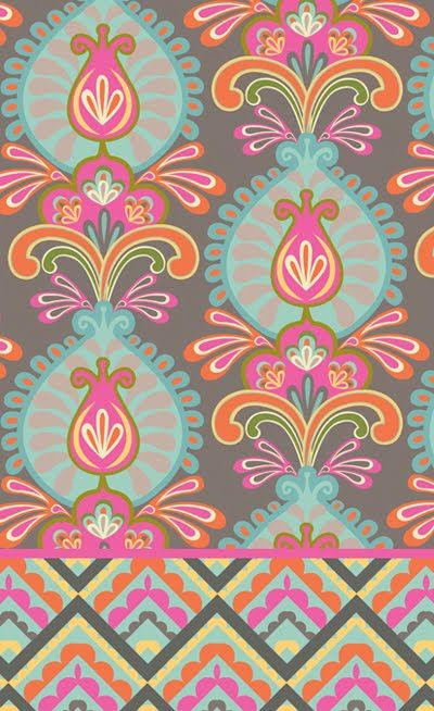 Love this pattern and the colors. Design by Melissa Ybarra. Via printpattern.blogspot.com