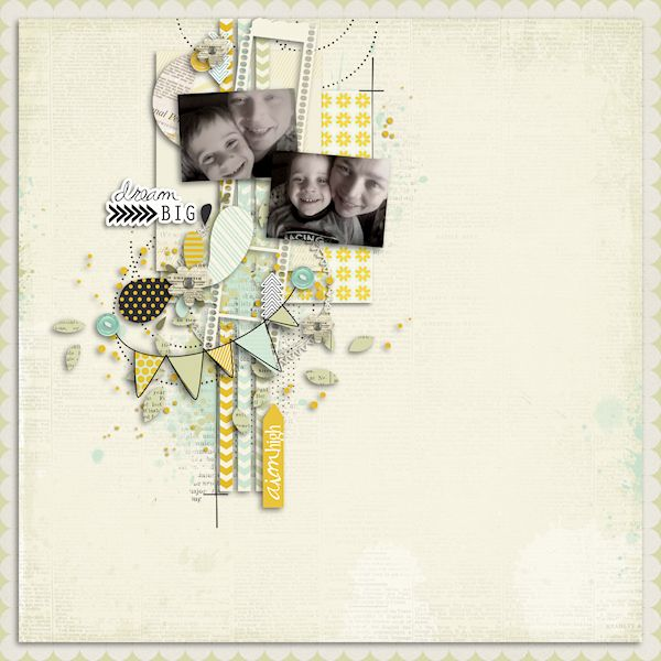 I'd like to do a layout with lots of tiny bits of pretty like this. Leora Sanford @ leora-sanford.blogspot.com