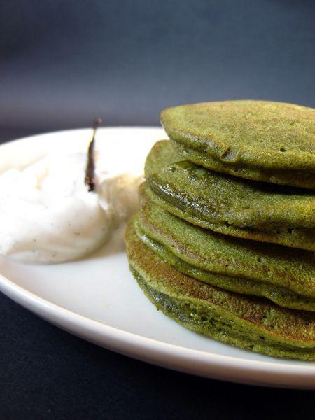 Matcha pancake e yogurt alla vaniglia                      #recipe #juliesoissons