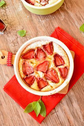 Clafoutis aux fraises et à l'amande