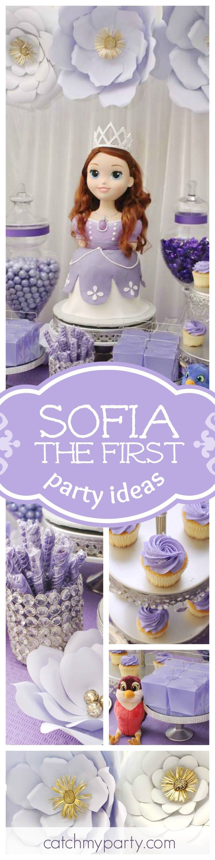 Don't miss this gorgeous Sofia the First birthday party. Just look at the princess cake!! It's amazing! See more party ideas and share yours at http://CatchMyParty.com