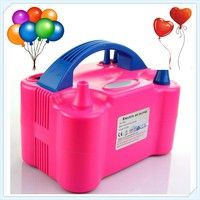 Wish | Hot OriGlam Double Hole High Voltage AC Inflatable Electric Balloons inflator Globos Pump Air Inflator Machine (Color: Peach)