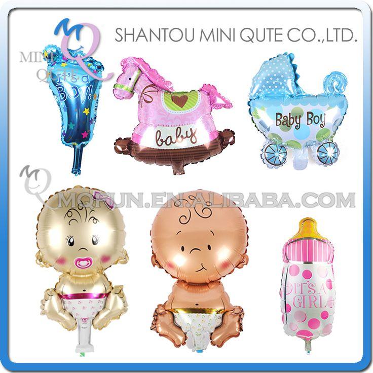 1 STKS Jongens Meisjes Vakantie Verjaardag Feestartikelen kids voeten houten paard Melk fles kinderwagen Decoraties Folie Ballonnen