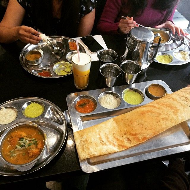 Saravanaa Bhavan in Paris, Île-de-France 70, rue du Faubourg Saint Denis, tel: 01 40 05 01 01, (M: Gare du Nord). This Indian restaurant is completely vegetarian, making it a good choice for folks avoiding meat, or who want a change from having to be content with a salad at a bistro. The food is very good and the place is spotless.