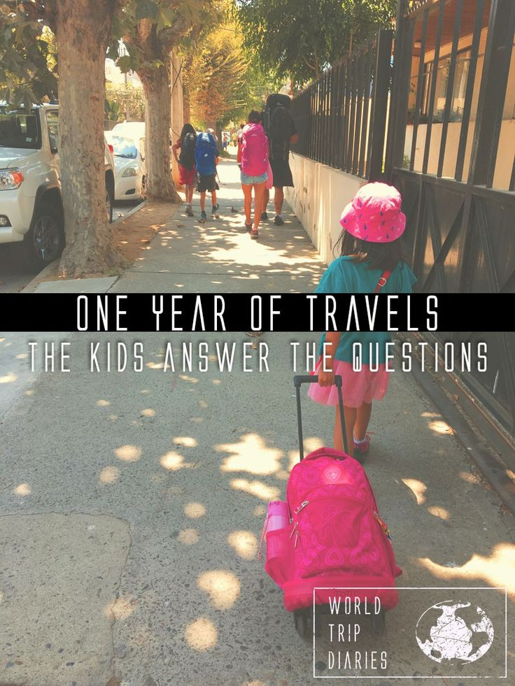The kids answer our readers' questions about our first year of travels! - World Trip Diaries