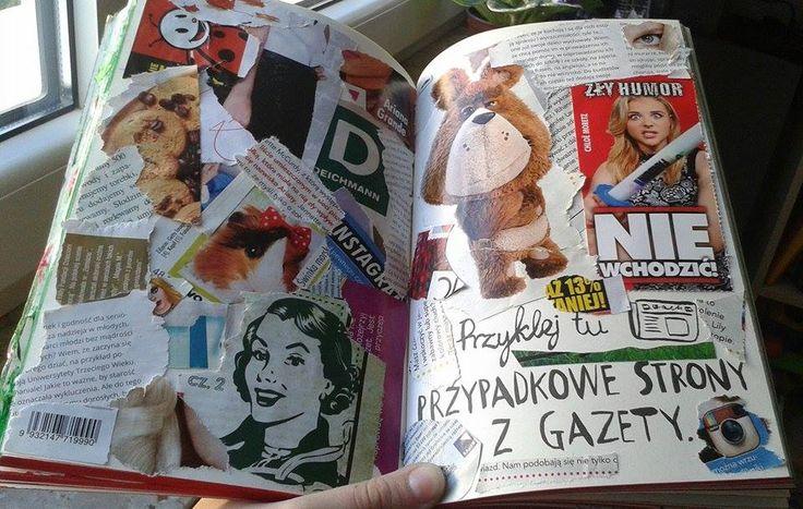 Podesłała Ola Bartków #zniszcztendziennikwszedzie #zniszcztendziennik #kerismith #wreckthisjournal #book #ksiazka #KreatywnaDestrukcja #DIY