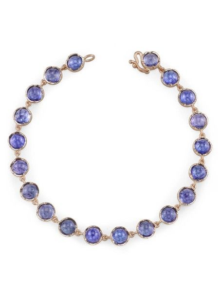 irene neuwirth cabochon tanzanite bracelet in rose gold