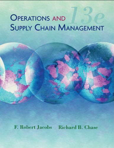 Operations and Supply Chain Management with Connect Plus by F. Robert Jacobs. $214.87. Publisher: McGraw-Hill/Irwin; 13 edition (June 4, 2010). 793 pages. Publication: June 4, 2010. Author: F. Robert Jacobs. Edition - 13