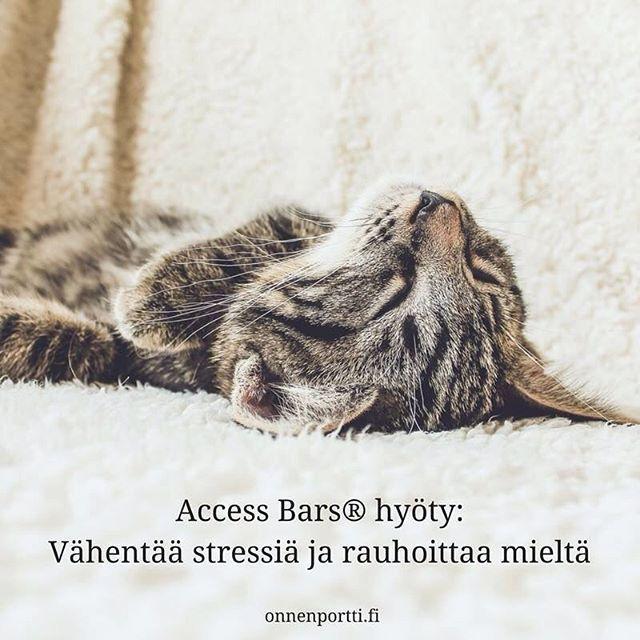 Access Bars® #hyöty - Vähentää stressiä ja rauhoittaa mieltä #AccessConsciousness #AccessBars #stressi #onnenportti