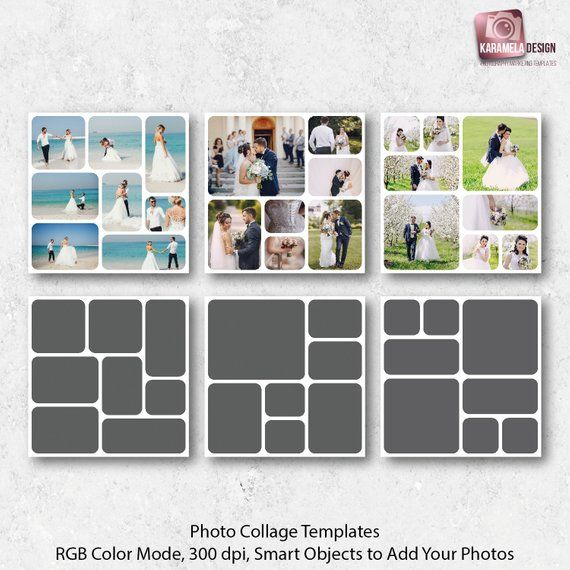 12x12 Photo Templates Collage Templates Photography Template Pack Digital Collages Wedding Photo Collages In 2020 Photo Collage Template Collage Template Photo Collage