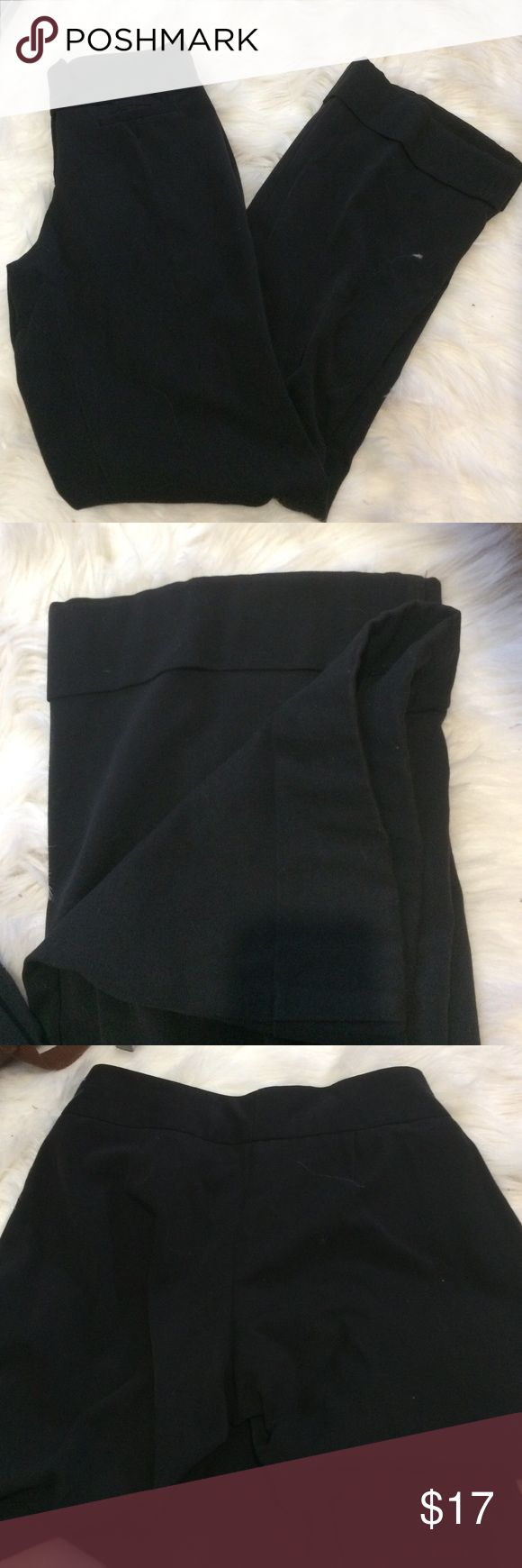 The limited perfect stretch dress pants Classic black dress pants from the Limited. Stretch fit with bottoms folded over. Size 2 regular length The Limited Pants Trousers
