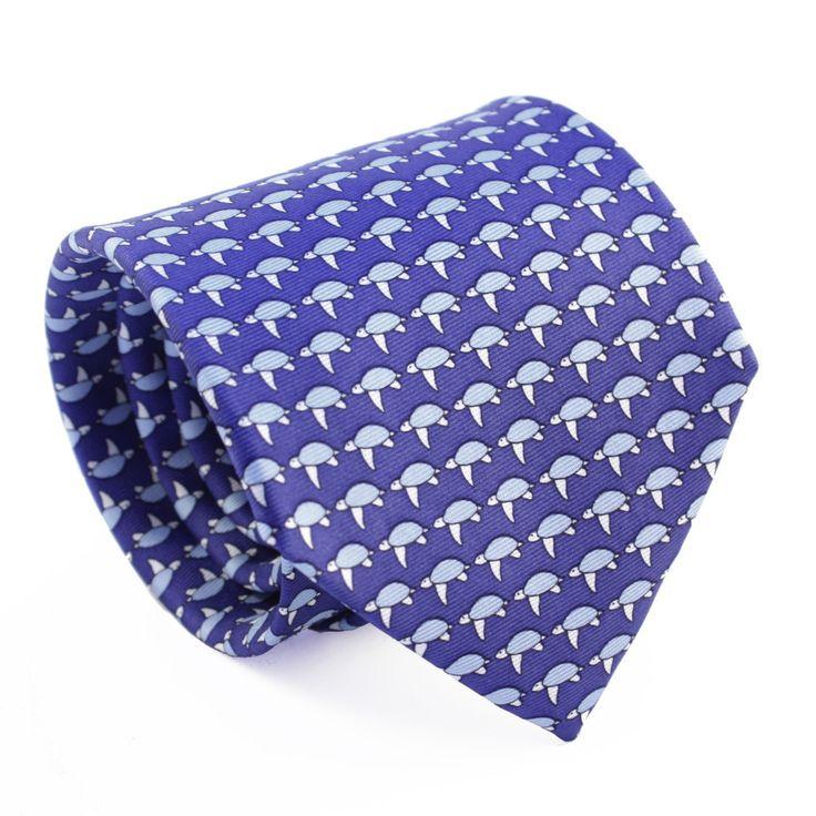 Reef Knots Silk Turtle Tie, Purple