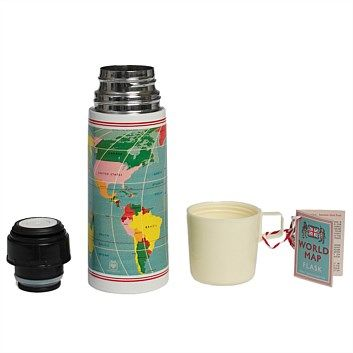 Tea & Coffee Accessories - Living & Giving - Flask Vintage World Map