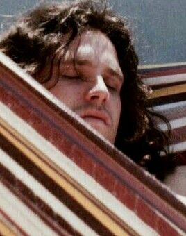 Jim Morrison, taking a leisurely snooze in a hammock  #jimmorrison #jimmorrisonsleeping #thedoors