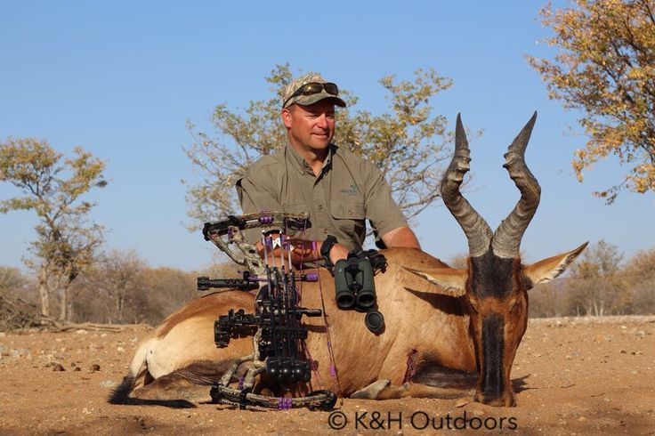 Kevin Wilson and a Red Hartebeest taken in Namibia with Etosha Hills Hunting (www.etoshahunting.com)