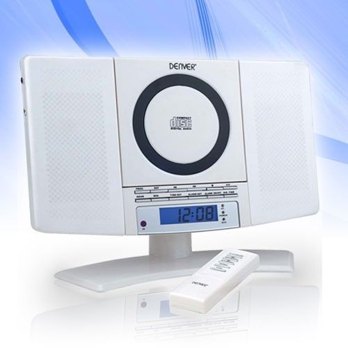 Trendy mini compact cd #player system clock #radio tuner #denver mc-5220 white,  View more on the LINK: http://www.zeppy.io/product/gb/2/281589383907/