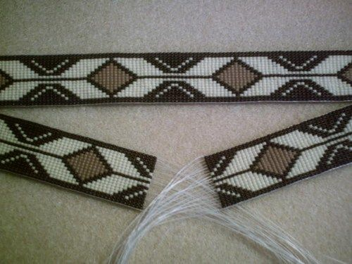 Rolling Thunder Medicine Man Beaded Hat Band~Replica of beaded ...