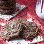 Peppermint Hot Chocolate Cookies - these look like trouble