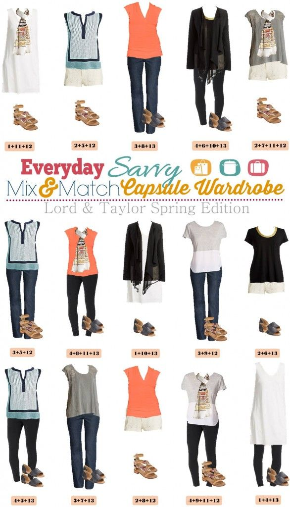 Lord Amp Taylor Spring And Summer Capsule Wardrobe Summer
