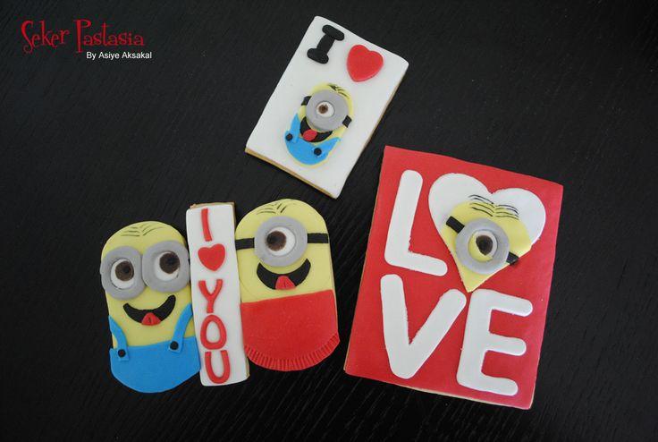 Sevgililer Günü Minion Kurabiye