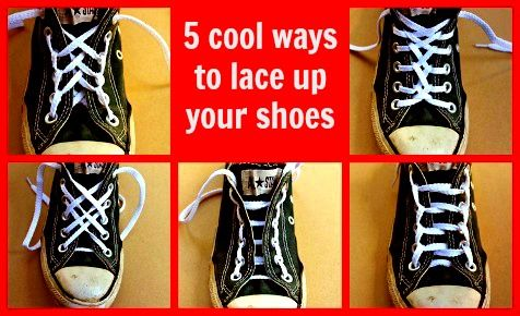 5 Cool Ways To Lace Up School Shoes