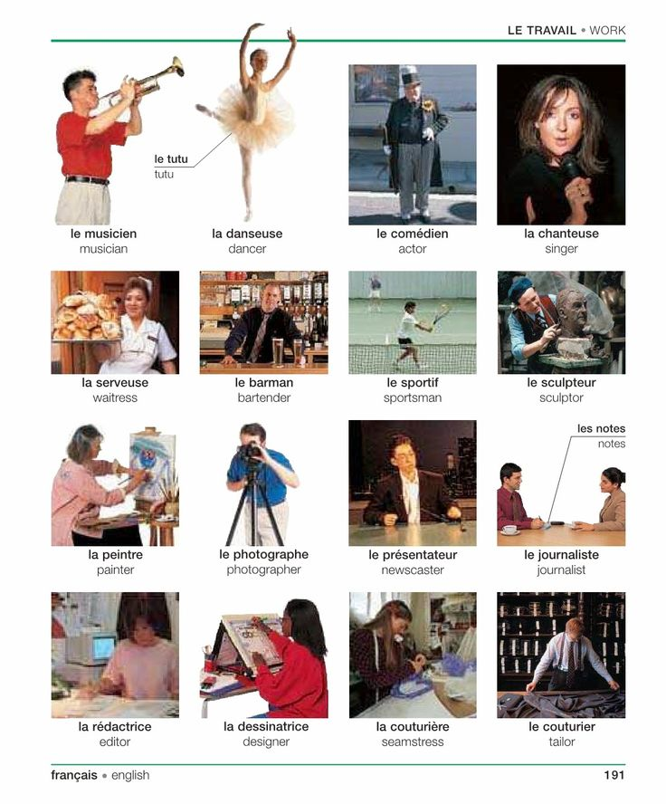 French for Newbies: Le travail