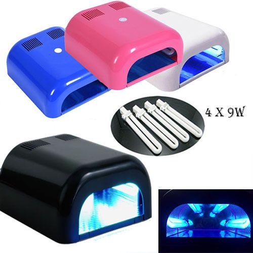 36W UV Lamp LightArt Gel Curing Nail Dryer Varnish White + 4 x 9W Blubs in Health & Beauty, Manicure & Pedicure, Nail Dryers & UV/LED Lamps | eBay