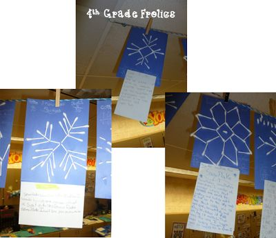 Snow Day Activities (Fraction Snowflakes-Snowman Writing-Snowflake Ornament Craft) via 4th Grade Frolics