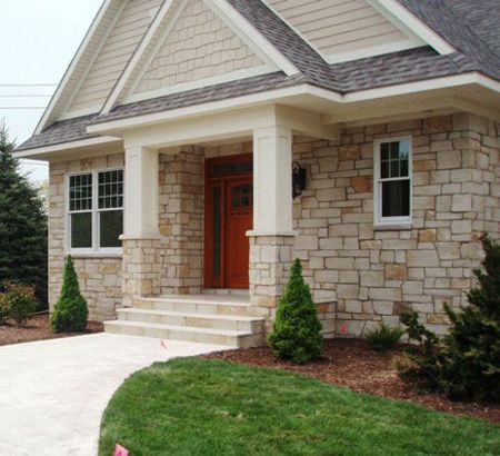 Limestone siding house i would 39 ve loved it if the shake for Best siding for homes in texas