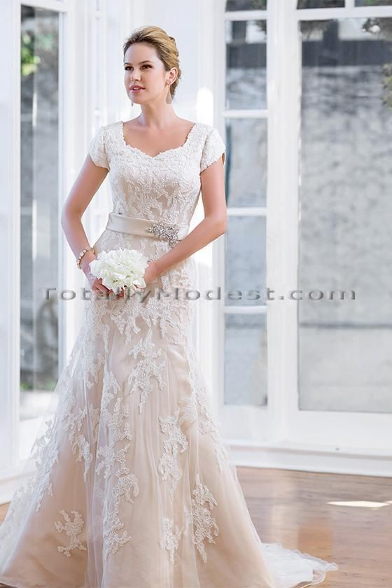 17 best images about totally modest dresses with sleeves for Modest wedding dresses seattle