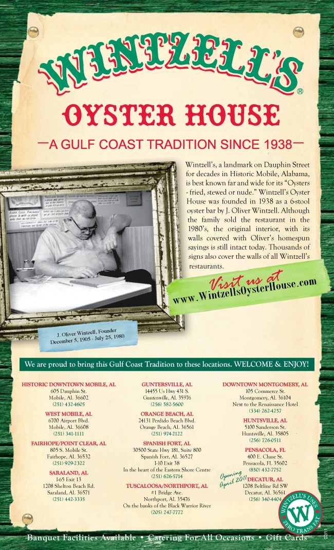Wintzell s Oyster House on Dauphin Street in Mobile  Alabama10 best Food   Eating Out 2   the menus images on Pinterest   Menu  . Food Places Downtown Mobile Al. Home Design Ideas