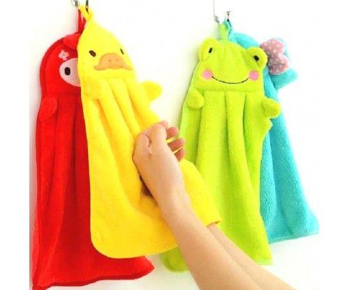 Állat motívumos gyerek kéztörlő mikroszálas, jó nedvszívó utazó törülköző - hasznos ajándék gyerekeknek