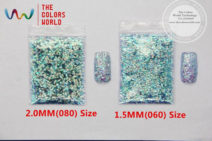 TCR513  Curl Fish scale Iridescent colors shifting flakes  for nail art nail gel and DIY decoration