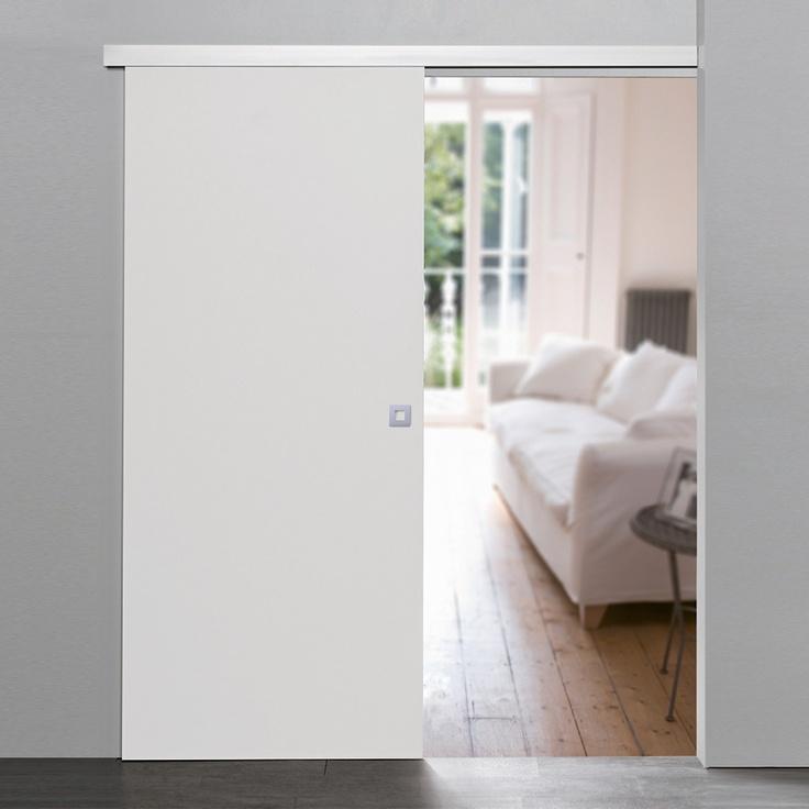 Pur Holz Schiebetür Dekor Weiß 755x2035mm Wohnen