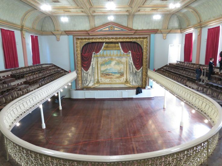 City of Kalgoorlie Boulder Town Hall/Theatre with it's famous and rare 1908 'Goatcher' painted curtain.