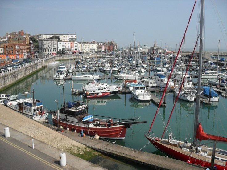 Ramsgate Harbour in Kent, Southeast England.