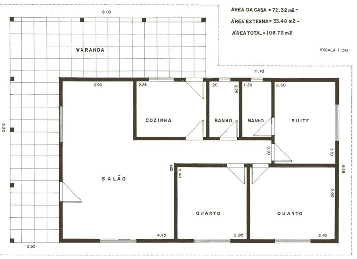 planos de casas pequenas para imprimir