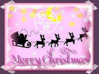 10EMBROIDERY Patroon Kerst Kerstman In slee (25K)