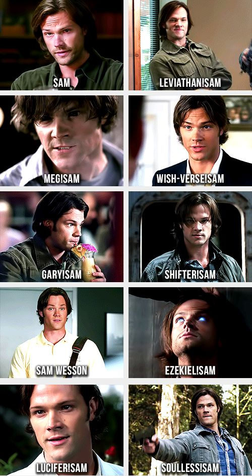 [Gifs] Can we all give Jared Padalecki an applause for his great acting please? Each one of these people have different personalities!