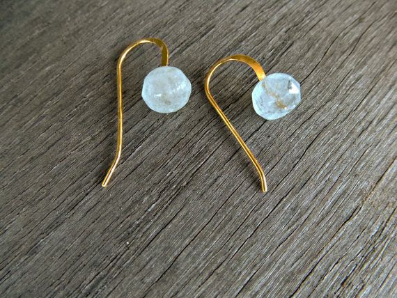 Simple 24K vermeil gold earrings tiny earrings by SoCoolCharms